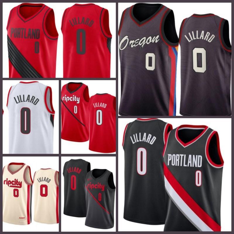 PortlandTrilhaBlazers.Jersey Damian 0 Lillard Carmelo 00 Anthony C.J. 3 McCollum Clyde 22 Drexler Basketball Jersey Homens