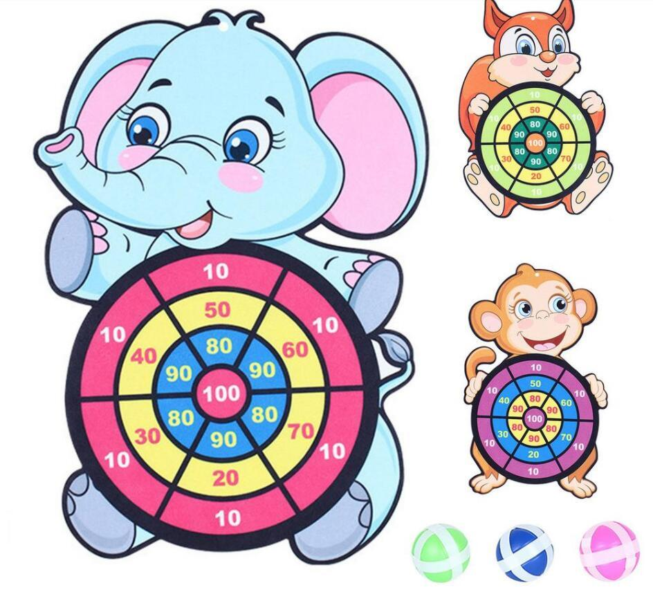 Children's dart suit sticky ball safety leisure game sticky target toy dart ball needle flannel target