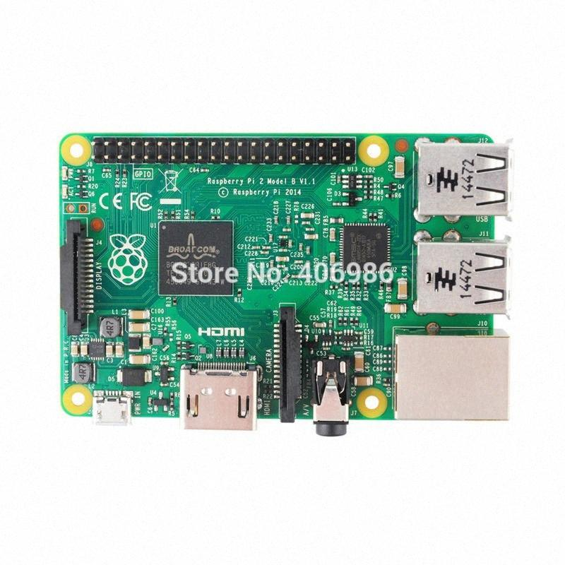 Wholesale-3pcs/lot 2015 New&Original Raspberry Pi 2 Model B Broadcom BCM2836 1G RAM 6 times FZ1411 JlZK#