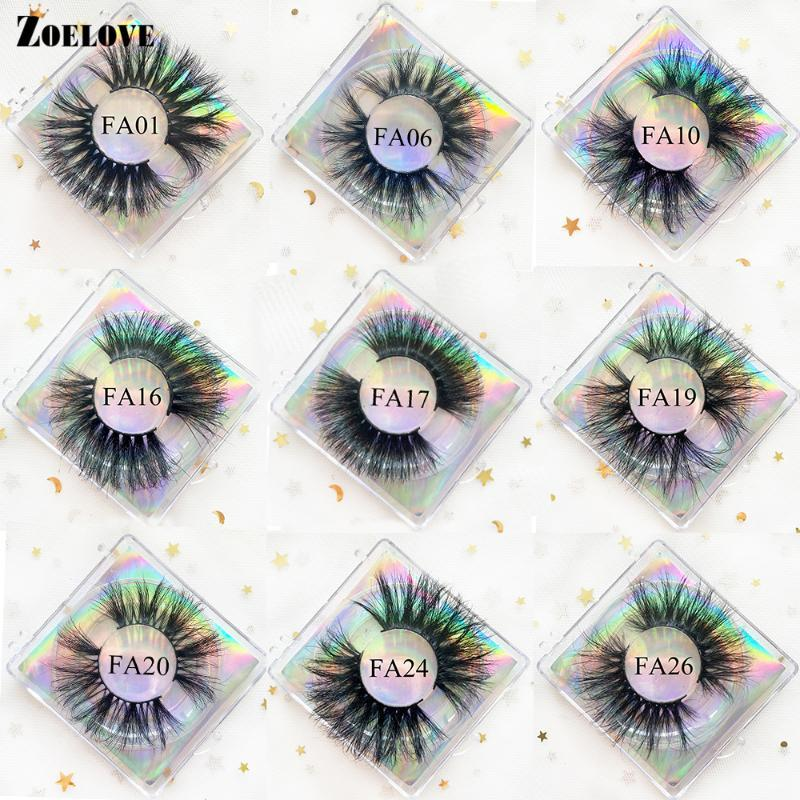 Full Strip Mink Lashes Pack en vrac 25mm Fluffy Eye Lashs Vendeurs Faux Cils Faux Cils Set En Gros Faux Cils fausses Faux Cils