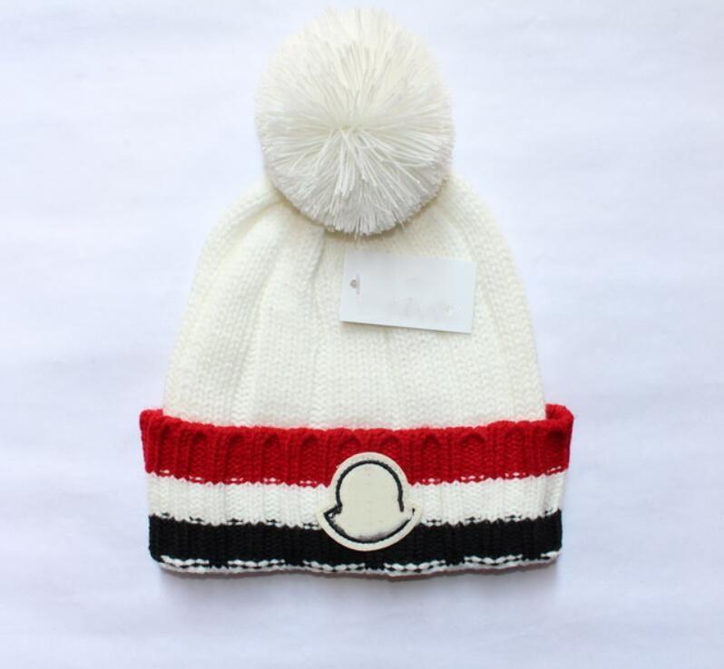 wholesaNew Frankreich Mode Herren Designer Hüte Mütze Wintermütze gestrickt Wollmütze und Samtkappe skullies Dickere Maske Fringe Beanies Hut
