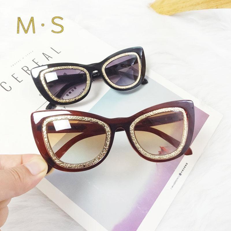 Mulheres Sunglasses 2020 Decoração de Luxo Clássico Eyewear Feminino Original Marca Designer Gato Olho Sol Óculos moda UV400