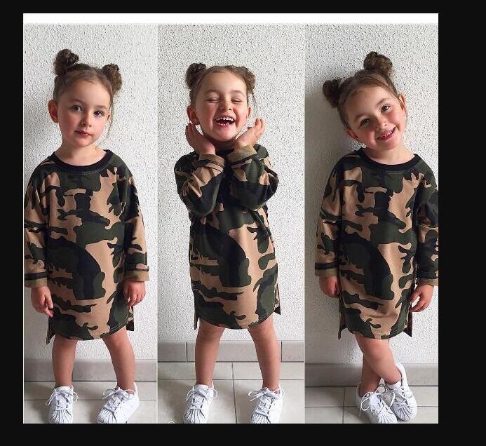 Camuflagem Roupas de Bebê Crianças Roupas Meninas Meninas Jumpsuit Meninos Meninas Infantil Pijama Set Menino Roupa Estilos Knee Comprimento Vestidos