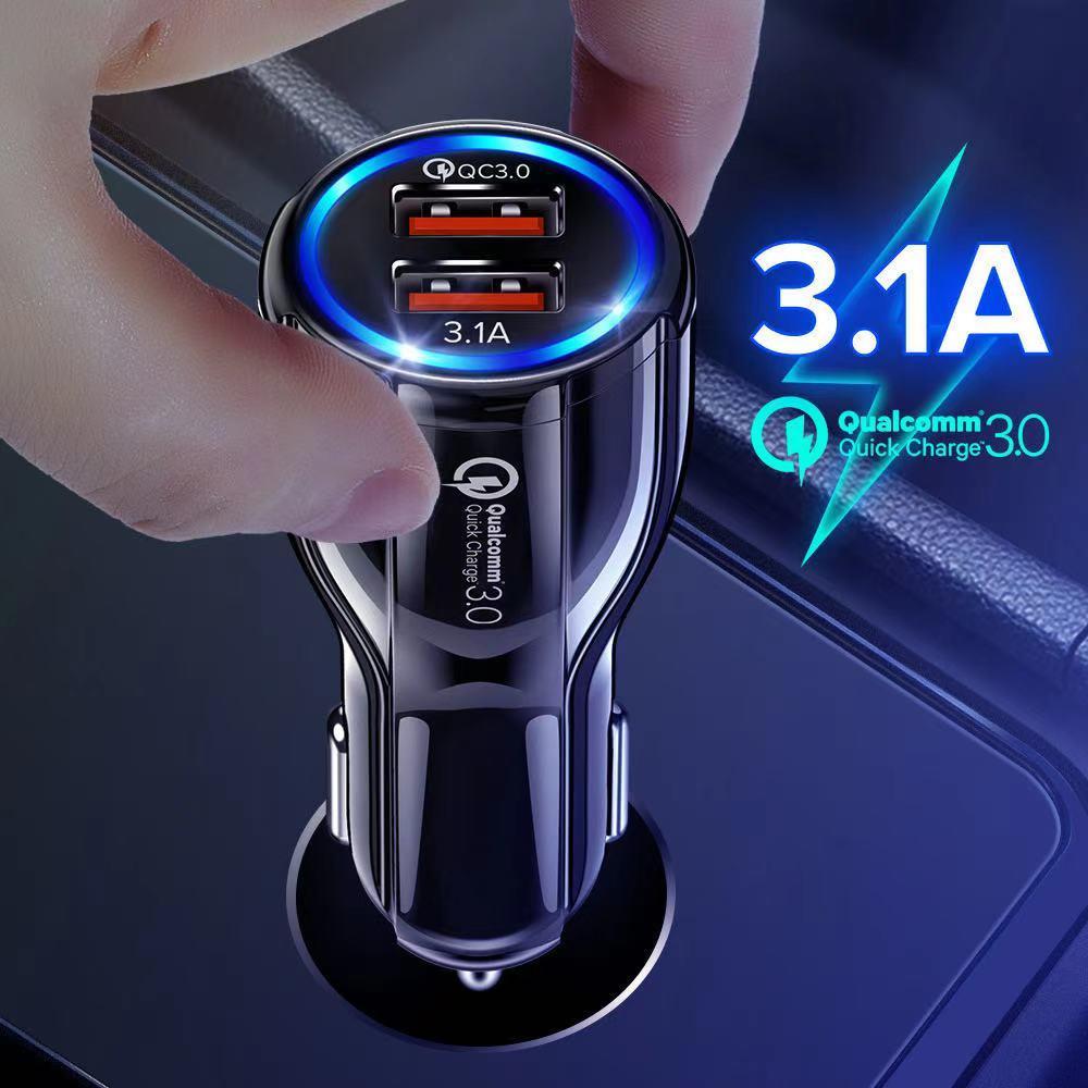 Chargeur de voiture 3,0 USB Chargeur QC3.0 Type C PD Fast Car Chargeur USB pour iPhone