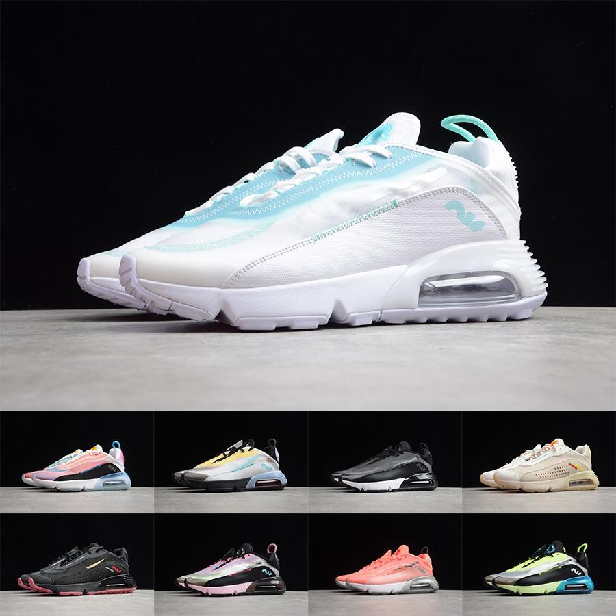 2090 Running Chaussures Mens Femmes Triple Noir Néon Néon Néon Toplighter Rose Foam Rose Camo Camo Sneakers 2090S Traqueurs de marche quotidien