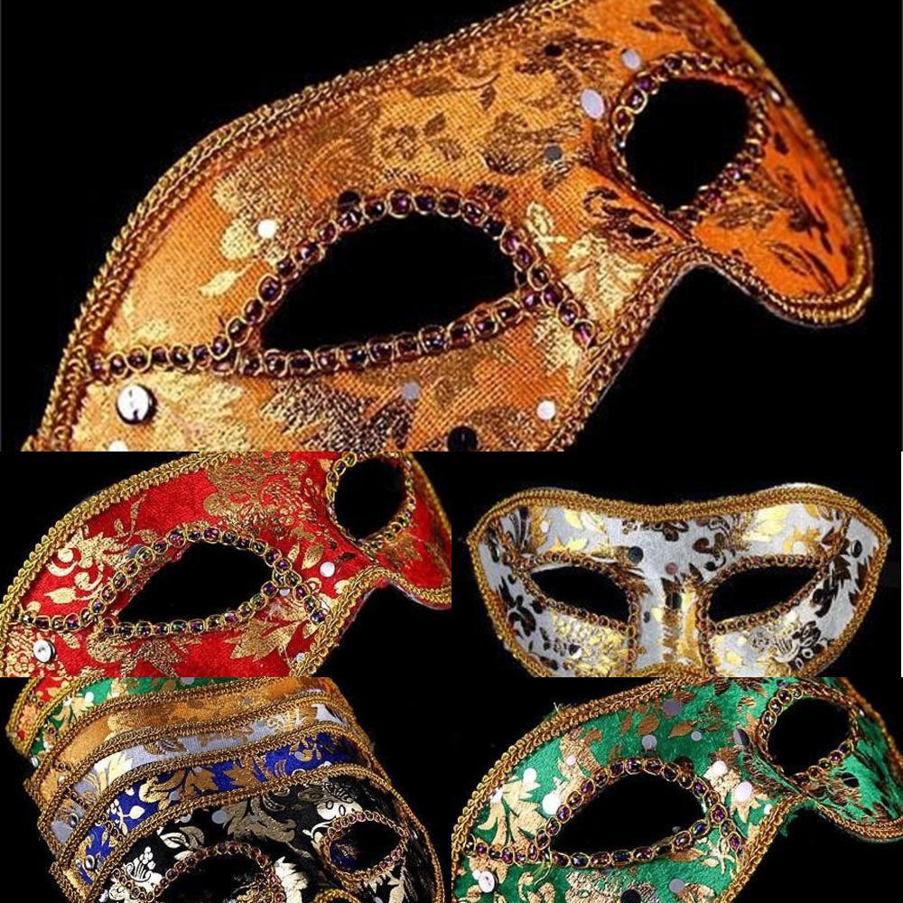Masquerade Италия, маска Хэллоуин 20 шт. Маска Мужской, Венеция, Половина Лицо Flathead Кружева Яркий ClodxC1Z2C