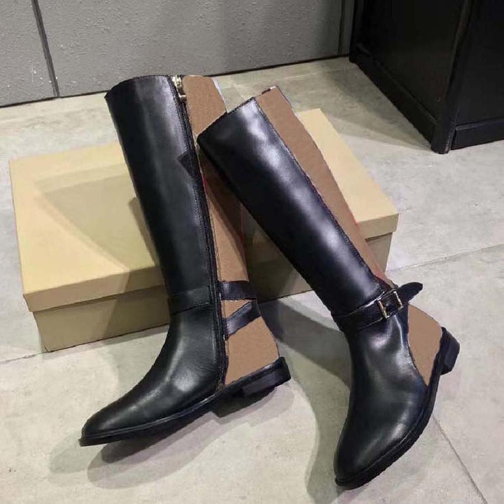 2021 Venda Boot Boots New Boots de rodilla Zapatos de deportes de moda Botas de cuero de alta calidad Sandalias Zapatillas para mujer por Shoe09 06
