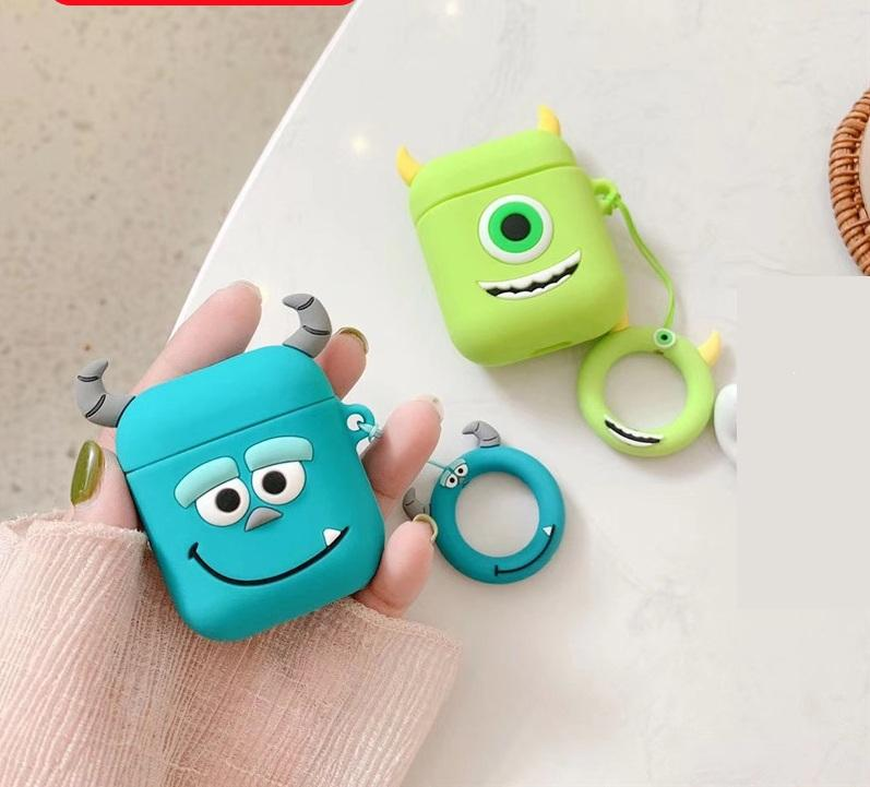 Funda para auriculares de silicona 3D de dibujos animados para Apple Airpods Pro 1 2 Cookie Elmo Frog Bear Cat 200pcs / lot