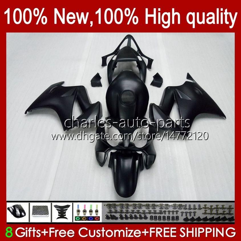 VFR-800 Kropp för Honda Black Flat Hot VFR800 VFR 800 RR VFR800RR Interceptor 100HC.7 02 03 04 05 06 07 08 09 10 11 12 2002 2012 Fairing Kit