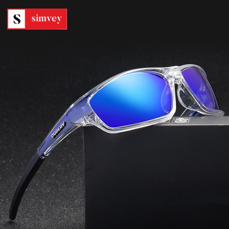 HD Occhiali da sole polarizzati Simvey Sport Uomini lente specchio d'epoca in esecuzione Pesca Golf antivento Occhiali con il caso Lentes De Sol