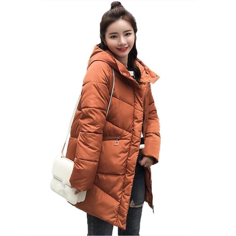 Femmes hiver veste mode épaissie coton rembourré long manteaux femmes femmes coréen style hotte parkas femmes vêtements d'extérieur casaco féminin 201225