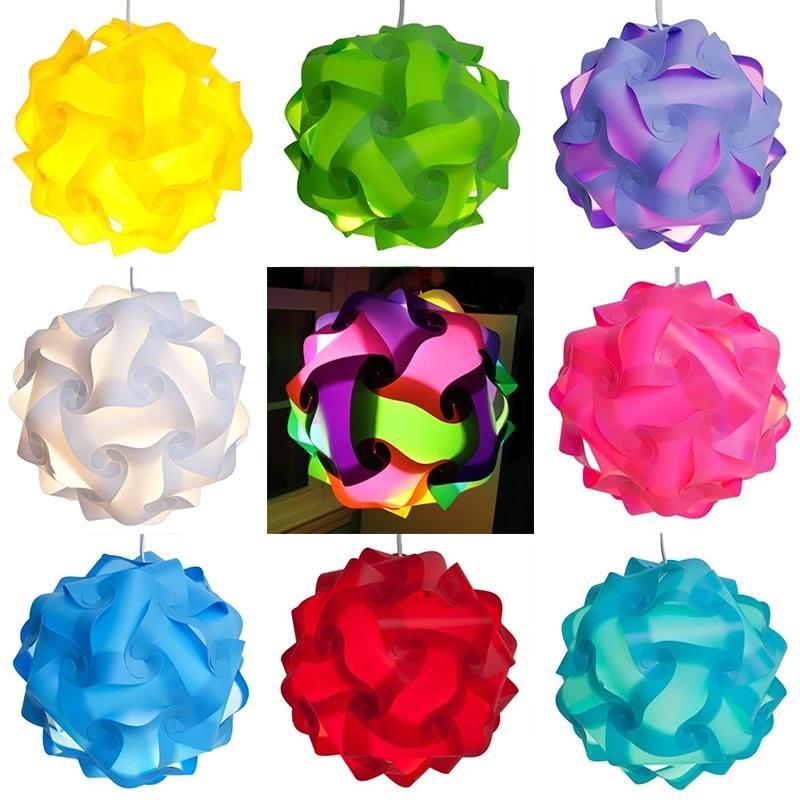 DIY IQ Puzzle Light Jigsaw Light Lamp Shade Ceiling Lampshade Creative DIY Chandelier Light 30pcs/set