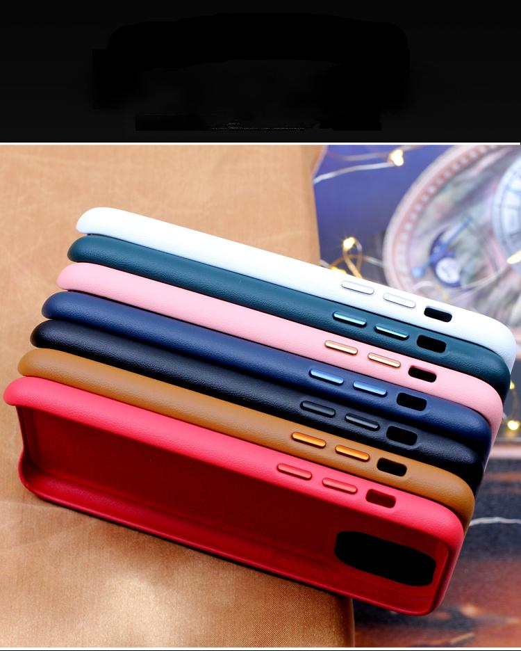 Original Real Leather Case For iphone 12 Mini 12 11 Pro Max Luxury Silky Soft-Touch Cover Shell For iphone SE 2020 Xs Max Xr X 7 Plus 8
