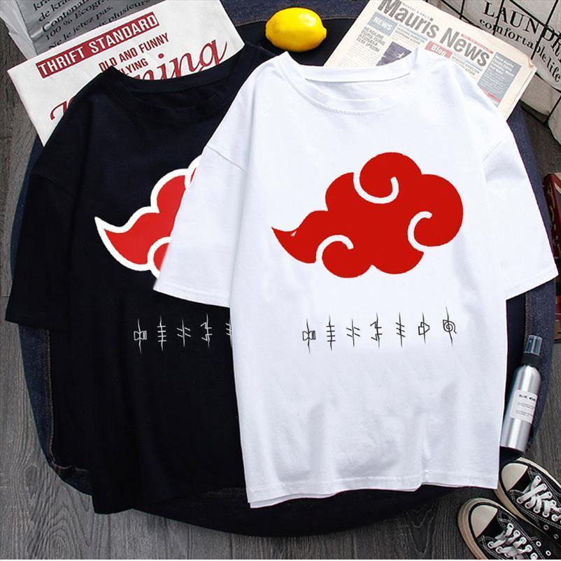 Tops de Algodão Hop Hip Summer Tees Harajuku Anime Naruto Hiphop Camisa Streetwear Camisa Tshirt Japonês 2020 Oversized t Anmne
