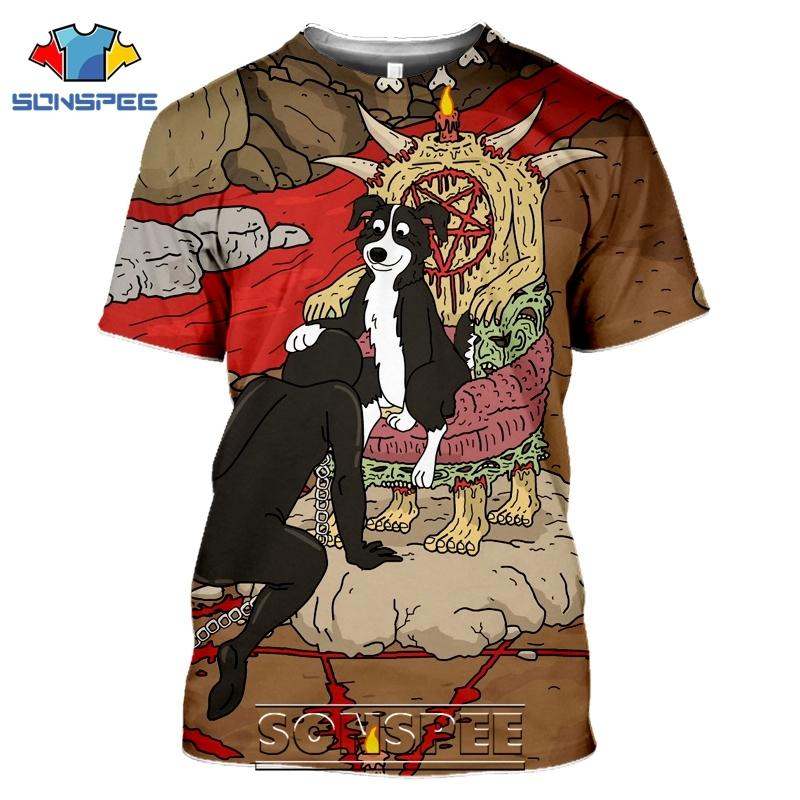 Sonspee 3D Imprimer MR Pickles T-shirts Hommes Femmes Casual Harajuku Streetwear Streetwear Hip Hop Anime Satan Mauvais Tees Tops Chemise 1021