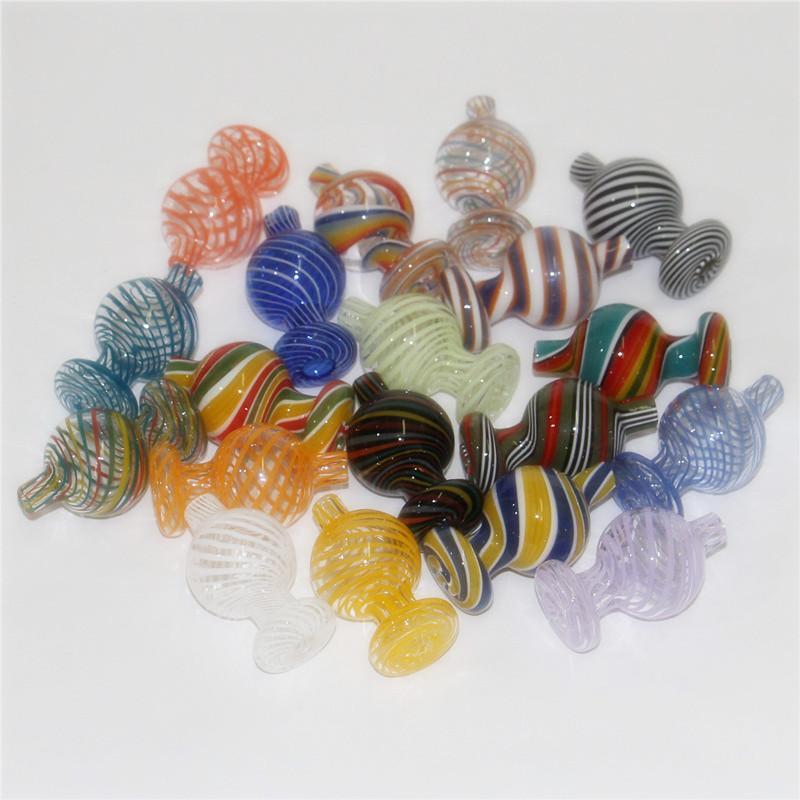 25mm od color vetro bolla tappo di carboidrati per piatti al quarzo piatta al quarzo banger unghie in vetro nettare collector ket tubi di acqua in vetro dax