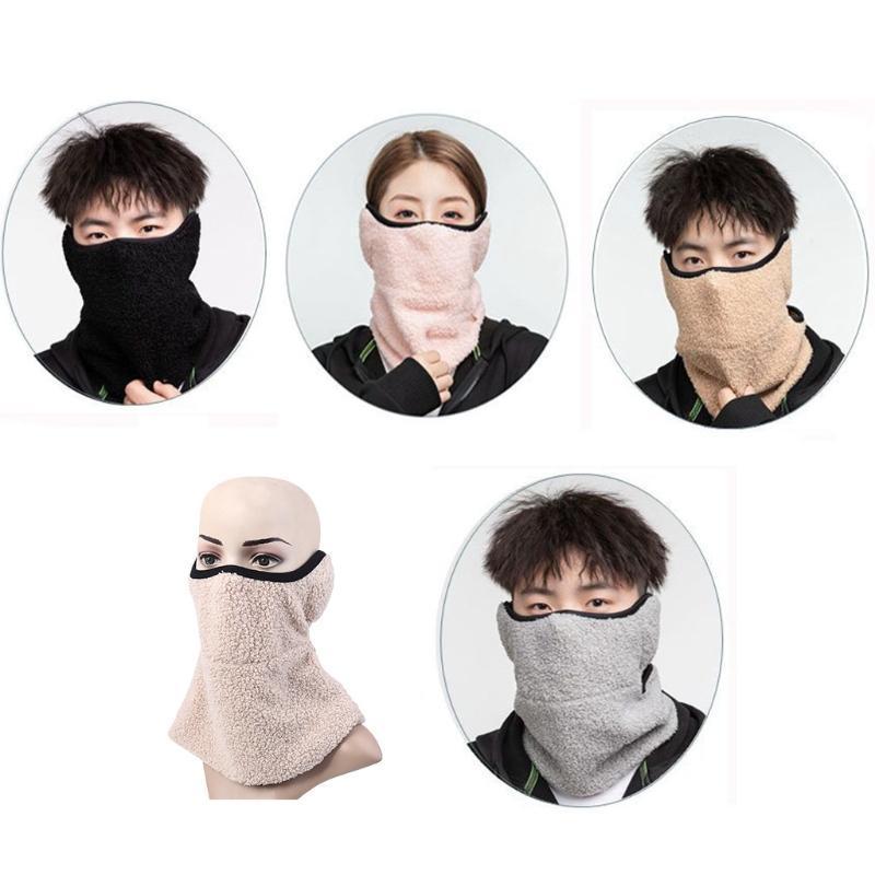 사이클링 캡 마스크 겨울 따뜻한 방풍 턱받이 야외 스포츠 두꺼운 스카프 목과 귀 보호 다목적 칼라 얼굴 마스크 따뜻하게