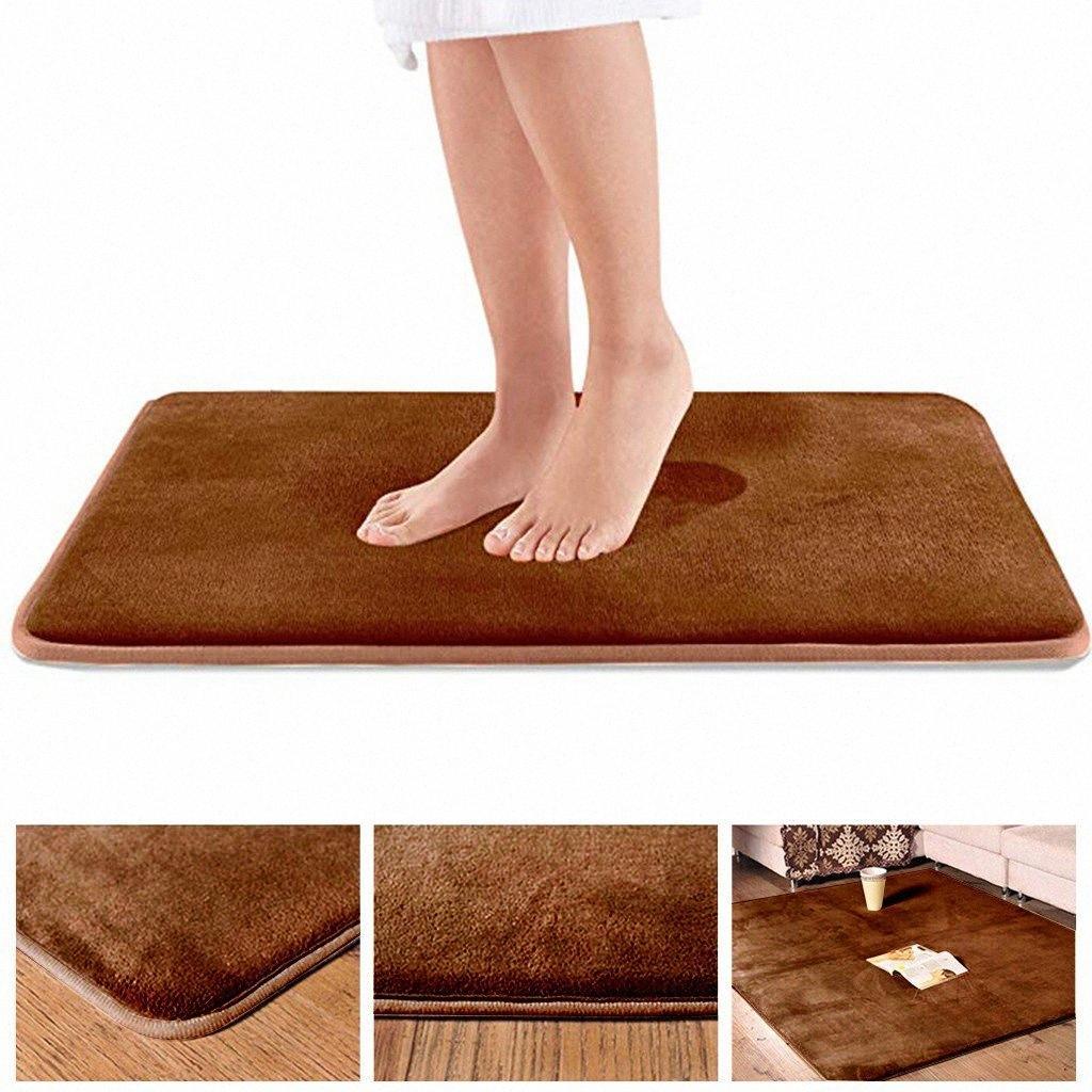 Bathroom Rug Floor Mat Memory Foam Kit Bath Toilet Coral Fleece Non slip Carpet