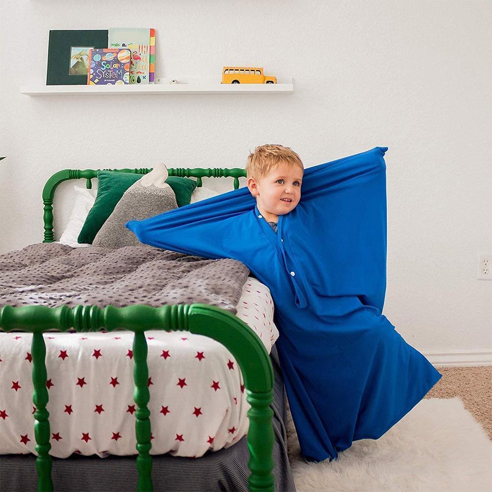 Envoltório de corpo inteiro de meia sensorial infantil para aliviar a ansiedade de estresse Stretchy seguro Saco respirável confortável para meninos meninas 201128