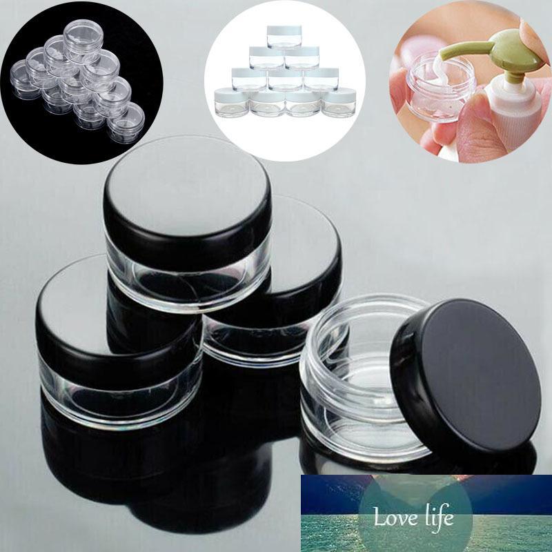 10pcs 2g / 3g / 5 g / 10g / 15g / 20g Vider en plastique transparent Pots cosmétiques Maquillage Bouteille Container Lotion Fioles Crème Visage Echantillon Pots Boîte Gel