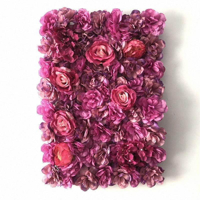 Tela da parede da flor 40x60cm Flores artificiais romântico Fundo Floral Wedding Photography Decor decoração fundo UwSM #