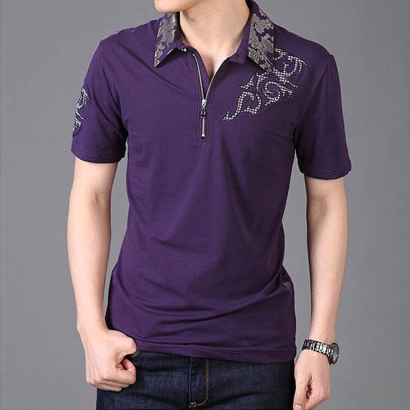 2021 Neue Sommer heiße Männer Sier Drachenkragen Kurzarm Baumwolle Beiläufige Mann T-Shirt Plus Größe 6XL 5XL HU0Z