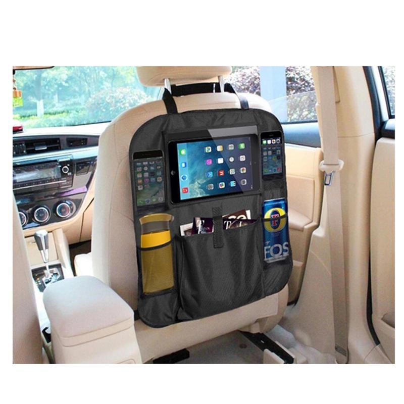 Backseat автомобилей Организатор удар Маты Backseat автомобилей Организатор путешествия удар Маты Back Seat Protector с сенсорным экраном Tablet Holder