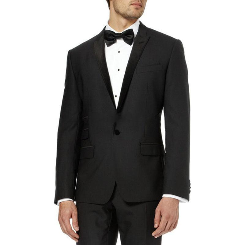 2020 Most Popular Classic Men Suits Formal Prom Suits Vintage Groomsmen Wedding Tuxedos Black Mens Daily Wear suit(Jacket+Pants)