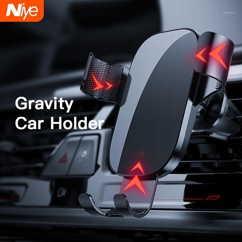 Titular do telefone celular portadores de carro para no ar de ventilação de ar Suporte de suporte de suporte de montagem Sensoring de gravidade sem detentores magnéticos1