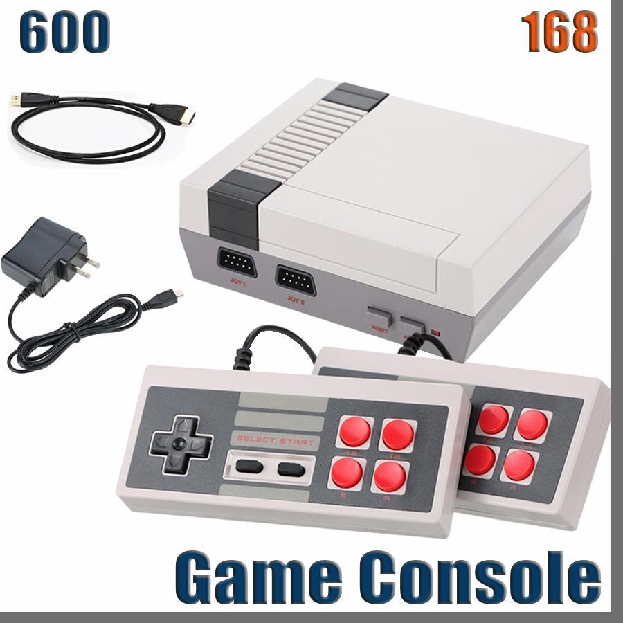 168D 새로운 HD 게임 콘솔 비디오 핸드 헬드 미니 클래식 TV 게임 600 NES 게임 콘솔 컨트롤러 Joypad 컨트롤러 소매 상자