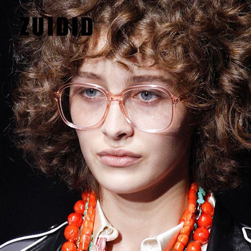 Мода Солнцезащитные очки Рамки Zuidid Прозрачные Конфеты Цвет Очки Очки Каркас Мужчины Женщины Универсальные Черные Овальные Очки для улицы на открытом воздухе