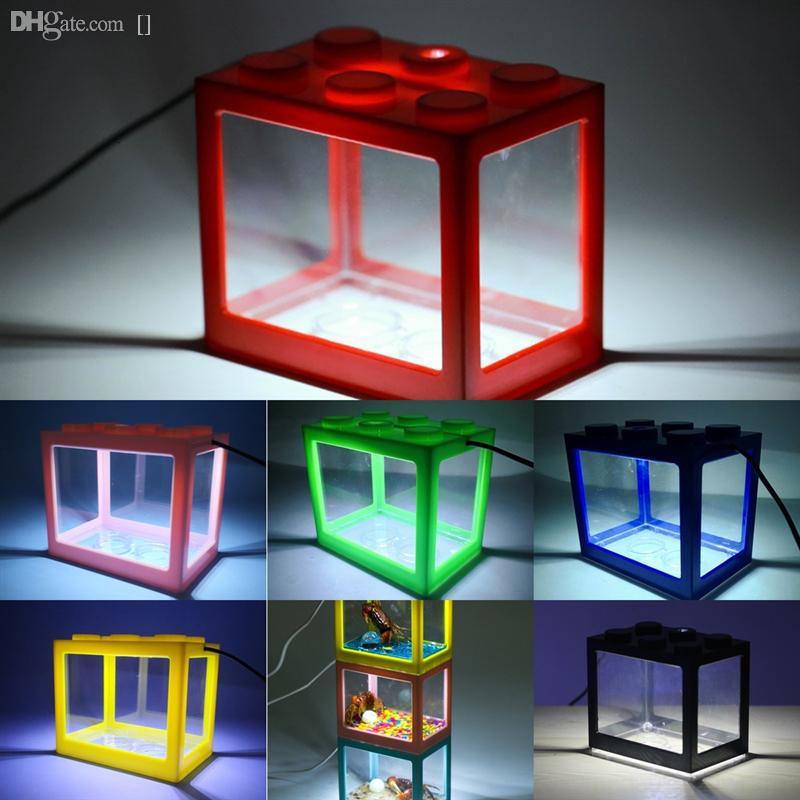 YSBZV Balık Balığı Aqrium Tankı Lego Blokları Peyzaj Akvaryum Işık Kurşun Tank Mikro Peyzaj Doğal Yaşam Çevre Reçine Peyzaj