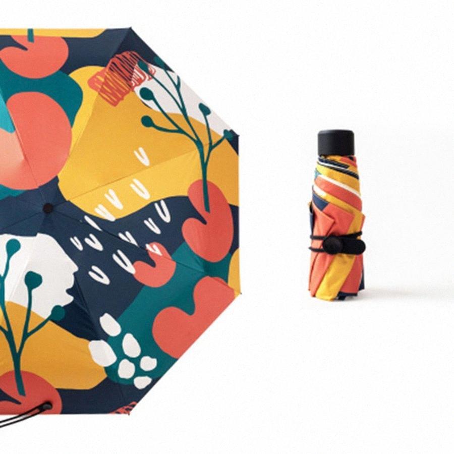 Sunny Anti UV Regenschirm-Regen Frauen Floding Winddichtes Mini Taschenschirm Sonnenschutz Regenschirm Sonnenschirme Schirme UBY015 HTkP #