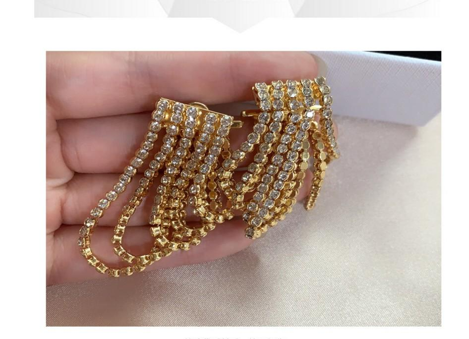 maravilhoso alta qualidade preço baixo de diamante de cristal up-market borlas brincos 50z senhora