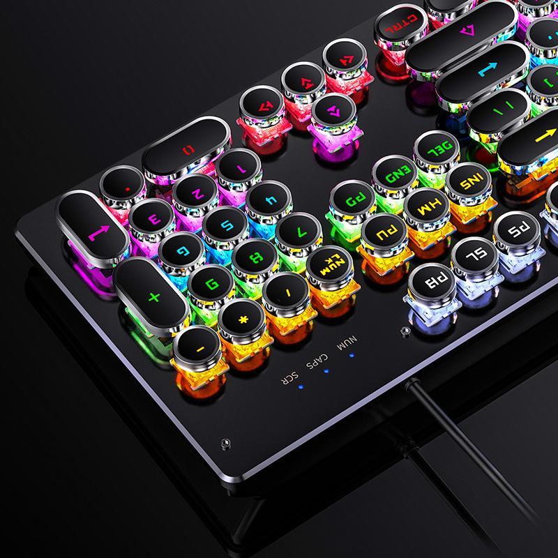 teclado mecánico real, juegos conmutable eje, eje verde de juego con cable de teclado USB de Ministerio del Interior el envío libre