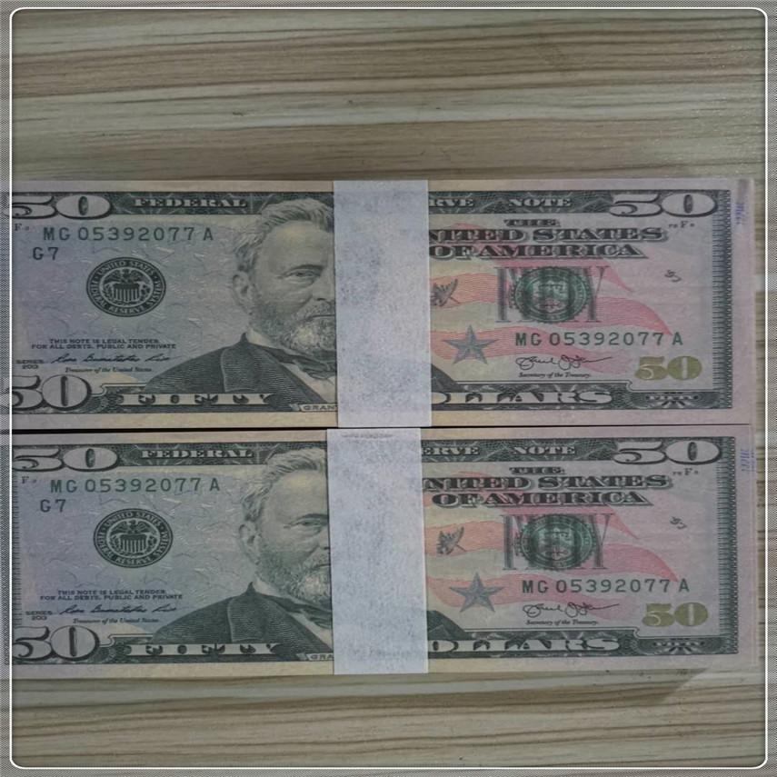 Währungsstützen NMTPT 100 Stück / Paket US-Großhandel Papiergeld Versand Währungsqualität High Free 50-2 Kopie Avolo