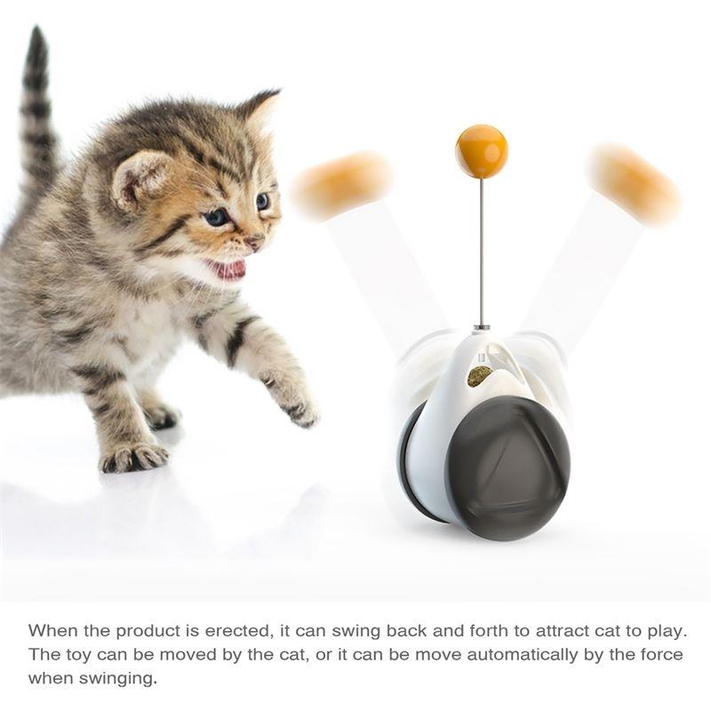 التفاعلية كلب القط لعبة بهلوان بهلوان مع catnip إغاظة العصا الكرة الدورية عجلات للقطط الكلاب الترفيه جودة عالية بيع 201112