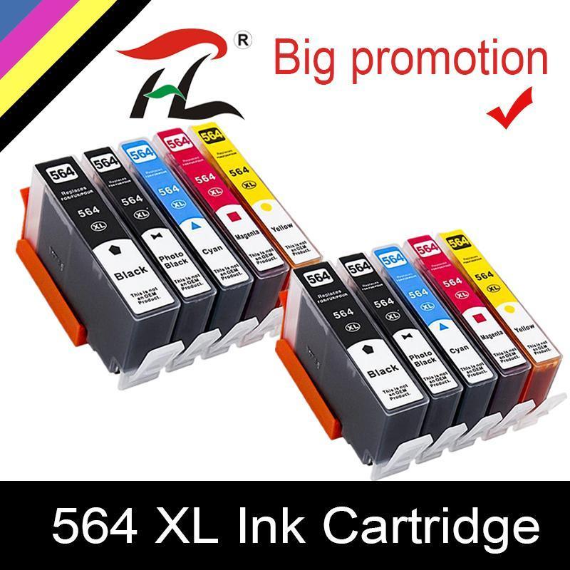 Cartouche d'encre HTL 564XL pour 564XL 564 Compatible pour Photosmart B8550 C6324 C310A C410 6510 D5460 7510 B209A 4610 3070A