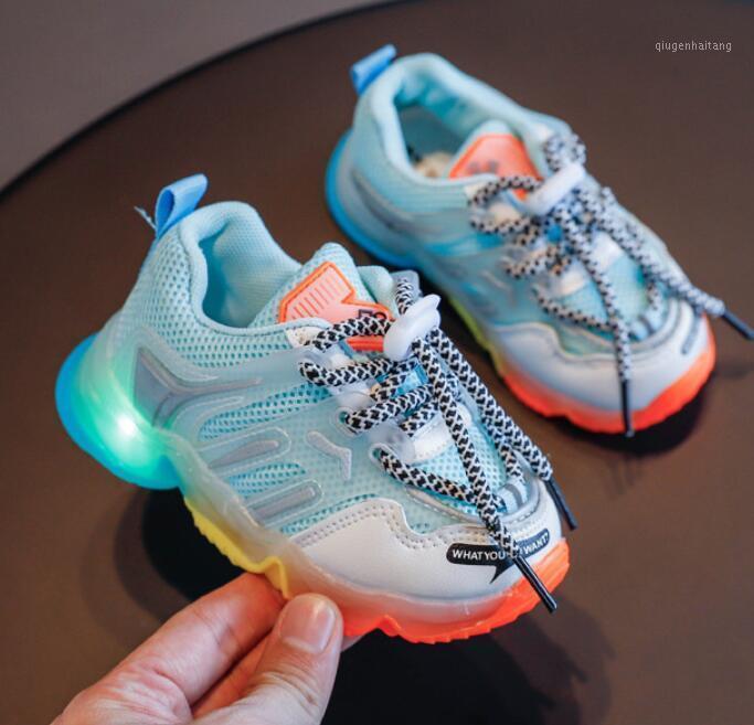 Enfants LED Lumineuse Éclairage Chaussures de tennis pour bébé bébé garçons filles flash sneakers lumineux enfants garçons filles courantes chaussures de sport1