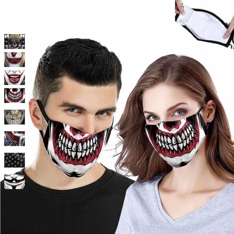 Viso cotone Dhl antipolvere Maschere cranio di trasporto protettivo unisex scheletro maschera facciale Uomo Donna Outdoor Sports maschera Ahf282