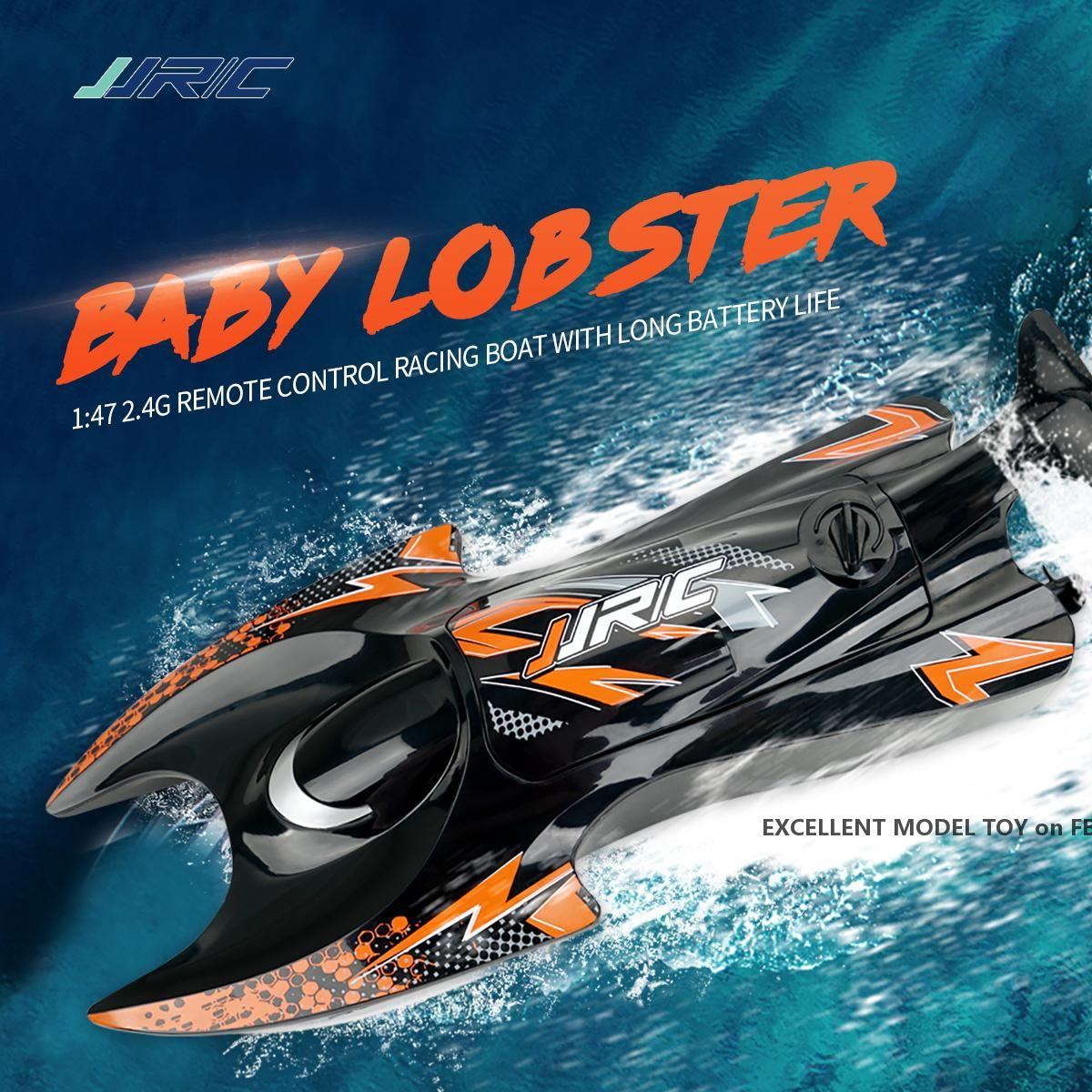 JJRC S6 2.4G Lobster Fernbedienung Elektrische Schnellboot Spielzeug, 1:47, Dual Motor, 5-10 km / h, wasserdicht, Weihnachtskindergeburtstags-Jungengeschenke, 2-1
