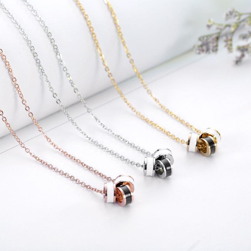 Collares de la moda del colgante de cristal de acero inoxidable 316L para mujeres