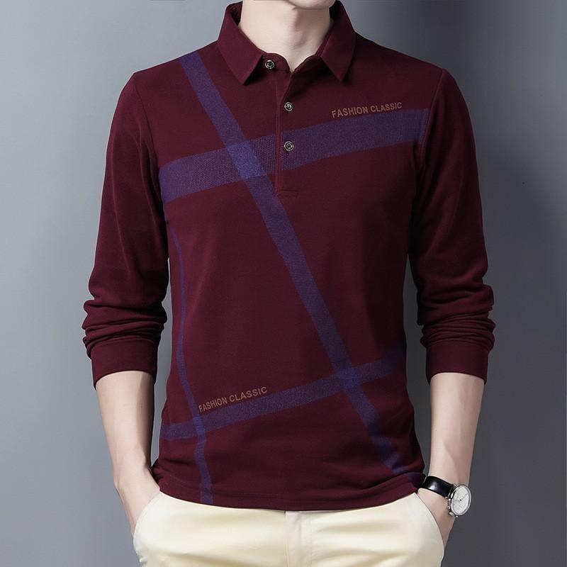 Ymwmhu 2020 nouveau manches longues occasionnel hiver hiver chauds vêtements streetwear mode mâle polo chemise de style coréen