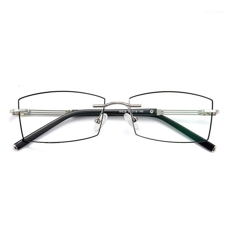 0 ~ +/- 4.50 benutzerdefinierte fertige verschreibung brille splitterrahmen männlich myopie presbyopia linsen surperlight commercial titanium frimless1