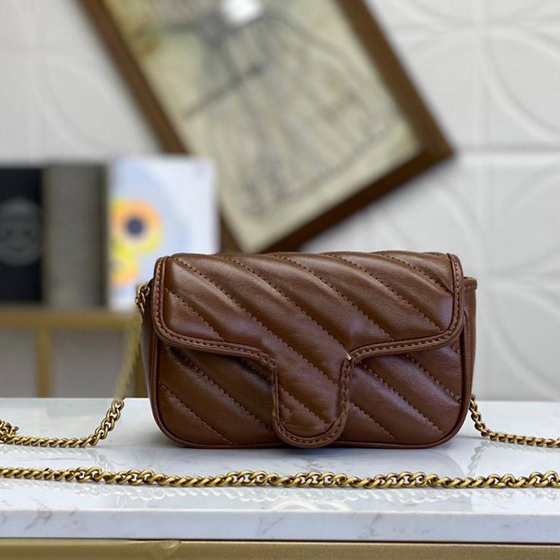 여성 체인 어깨 가방 핸드백 지갑 메신저 가방 패션 고품질 일반 정품 가죽 hasp 레이디 플랩 지갑