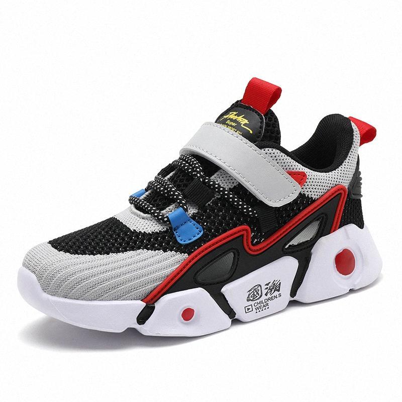 Zapatos de los niños para chicos, chicas de bebé zapatos corrientes de la zapatilla de deporte para niños Casual Sport Pisos Zapatillas de verano de malla transpirable zapatillas de deporte de los niños MKsw #