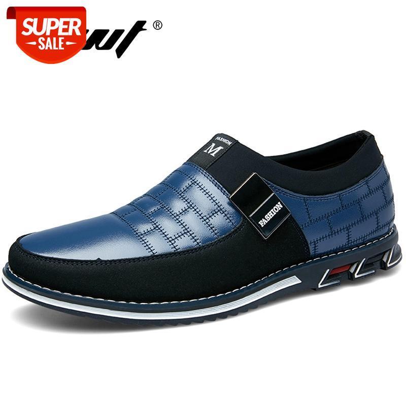 DROP LIVRAISON D'Automne Hiver Cuir Hommes Chaussures Mode Casual Chaussures Hommes Mocassins Hommes Robe de mariée Big Taille 38-48 # GI5L