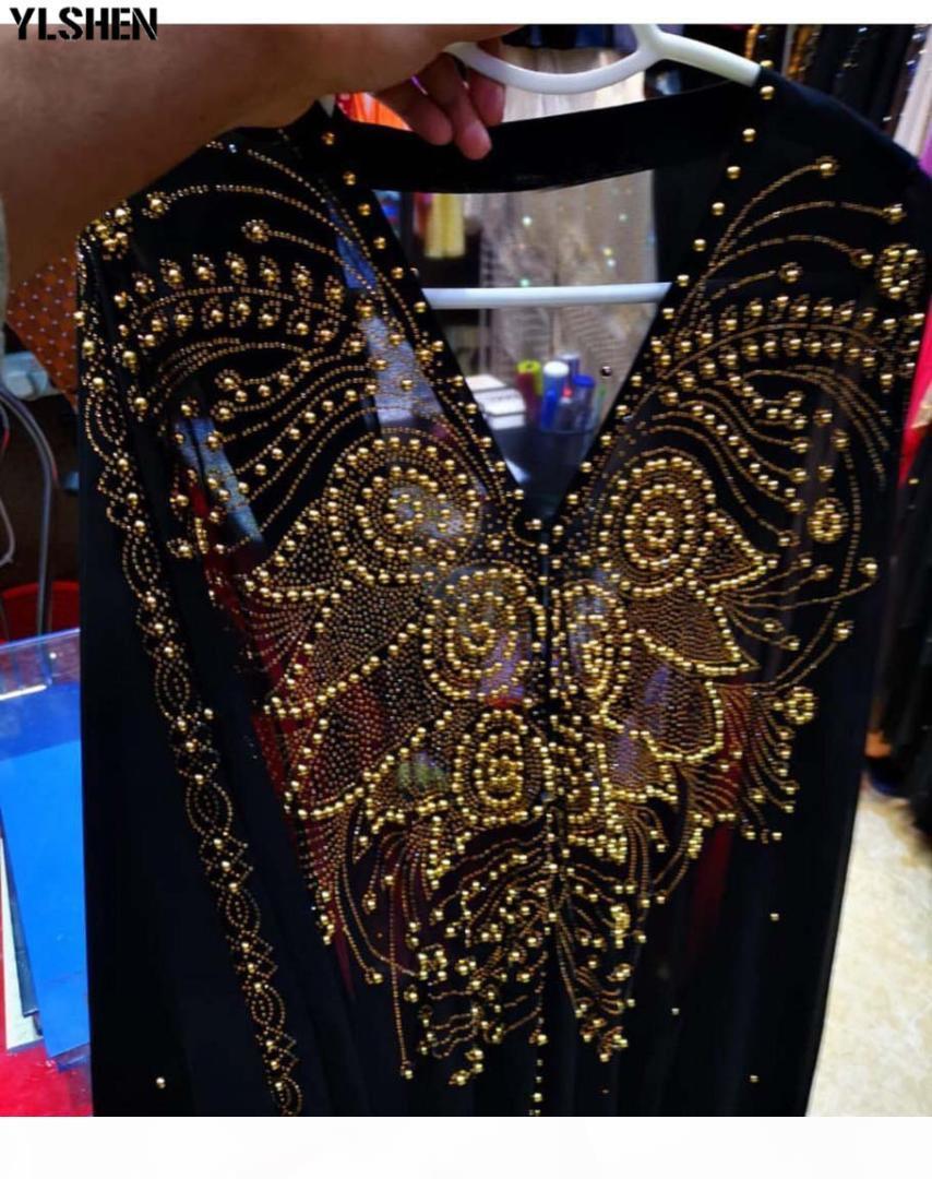 Kadınlar için Afrika Elbiseler Dashiki Afrika Giysileri Elmas Boncuk Abaya Dubai Robe Grand Boubou Afrika Müslüman Elbise Kapüşonlu Cape