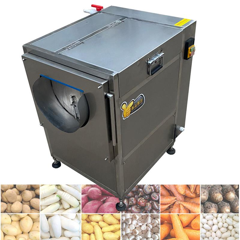 2021 Automatische Edelstahlkarotte Süßkartoffel Ingwer Tapioka Reinigung Peeling Maschine Gemüse Früchte Waschen Peeling Machine