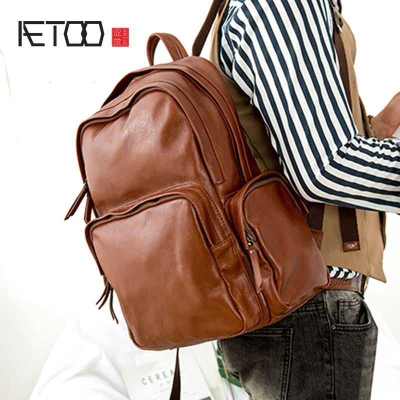 HBP aetoo rahat bilgisayar basit deri sebze tabaklanmış tra ilk kişilik erkek sırt çantası moda katmanı ovosw